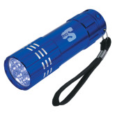 Industrial Triple LED Blue Flashlight-Big S Engraved