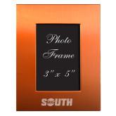 Orange Brushed Aluminum 3 x 5 Photo Frame-Big South Engraved
