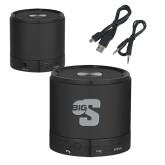 Wireless HD Bluetooth Black Round Speaker-Big S Engraved