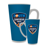 Full Color Latte Mug 17oz-Big South Cross Country Championship 2017