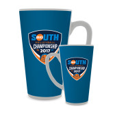 Full Color Latte Mug 17oz-Big South Volleyball Championship 2017