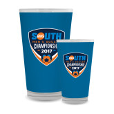 Full Color Glass 17oz-Big South Mens Soccer Championship 2017