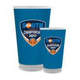 Full Color Glass 17oz-Big South Tennis Championship 2017