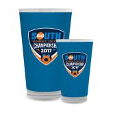 Full Color Glass 17oz-Big South Womens Soccer Championship 2017