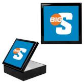 Ebony Black Accessory Box With 6 x 6 Tile-Big S