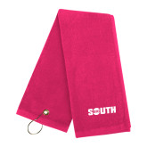 Pink Raspberry Golf Towel-Big South
