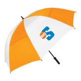 62 Inch Orange/White Umbrella-Big S