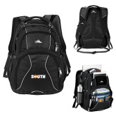 High Sierra Swerve Black Compu Backpack-Big South