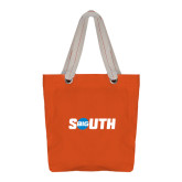 Allie Orange Canvas Tote-Big South