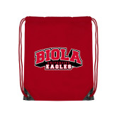 Red Drawstring Backpack-Official Logo