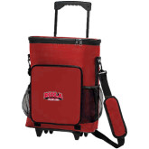 30 Can Red Rolling Cooler Bag-Official Logo