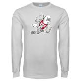 White Long Sleeve T Shirt-Mascot