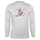 Performance White Longsleeve Shirt-Mascot