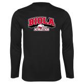 Performance Black Longsleeve Shirt-Official Athletics Logo