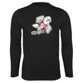 Performance Black Longsleeve Shirt-Mascot