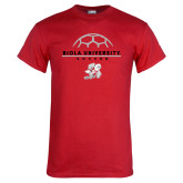 Red T Shirt-Soccer Geometric Top