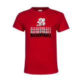 Youth Red T Shirt-Basketball Repeated
