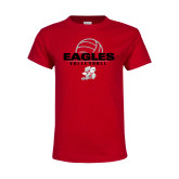 Youth Red T Shirt-Volleyball Top