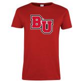 Ladies Red T Shirt-BU
