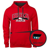 Contemporary Sofspun Red Hoodie-Official Athletics Logo
