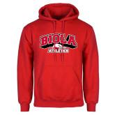 Red Fleece Hoodie-Official Athletics Logo
