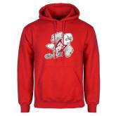 Red Fleece Hoodie-Mascot