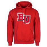Red Fleece Hoodie-BU