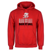 Red Fleece Hoodie-Basketball Repeated