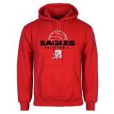 Red Fleece Hoodie-Volleyball Top