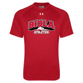 Under Armour Red Tech Tee-Official Athletics Logo