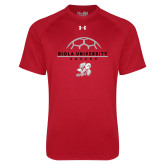 Under Armour Red Tech Tee-Soccer Geometric Top