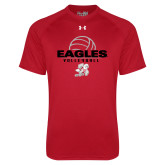 Under Armour Red Tech Tee-Volleyball Top