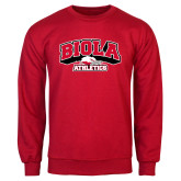 Red Fleece Crew-Official Athletics Logo