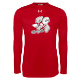 Under Armour Red Long Sleeve Tech Tee-Mascot