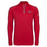 Under Armour Red Tech 1/4 Zip Performance Shirt-Official Logo
