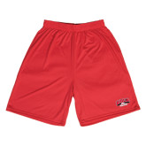 Syntrel Performance Red 9 Inch Length Shorts-Official Athletics Logo