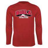 Performance Red Longsleeve Shirt-Official Athletics Logo