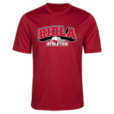 Performance Red Heather Contender Tee-Official Athletics Logo