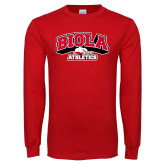 Red Long Sleeve T Shirt-Official Athletics Logo