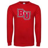 Red Long Sleeve T Shirt-BU