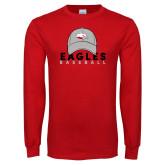 Red Long Sleeve T Shirt-Baseball Hat