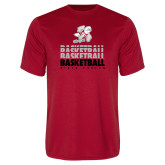 Performance Red Tee-Basketball Repeated