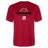Performance Red Tee-Volleyball Top