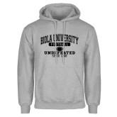 Grey Fleece Hoodie-Biola Football Undefeated Since 1908