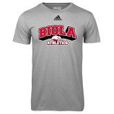 Adidas Climalite Sport Grey Ultimate Performance Tee-Official Athletics Logo
