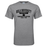 Grey T Shirt-Biola Football Undefeated Since 1908