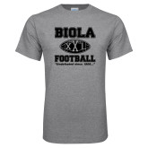 Grey T Shirt-Biola Football XXL Undefeated Since 1908