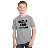 Youth Grey T-Shirt-Biola Football XXL Undefeated Since 1908
