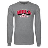 Grey Long Sleeve T Shirt-Official Athletics Logo