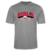 Performance Grey Heather Contender Tee-Official Athletics Logo
